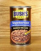 Může z Bushovy vegetariánské zapečené fazole — Stock fotografie