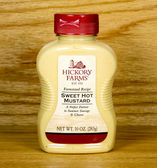 Bottle of Hickory Farms Sweet Hot Mustard — Stock Photo