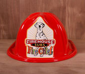 Firehouse Subs Childrens Firefighter Hat — Stock Photo