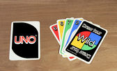 UNO cards from the game — Stock Photo