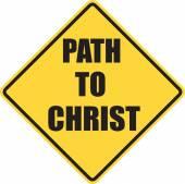 Path To Christ sign — Stockfoto