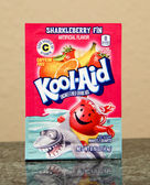 Package of Sharkleberry Fin Kool-Aid — Stock Photo