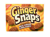Box of Nabisco Ginger Snaps Cookies — Stock Photo