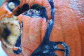 Molding Halloween pumpkin — Stock Photo