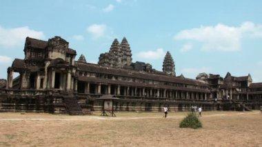 People in Angkor Wat, Siem Reap, Cambodia — Stock Video