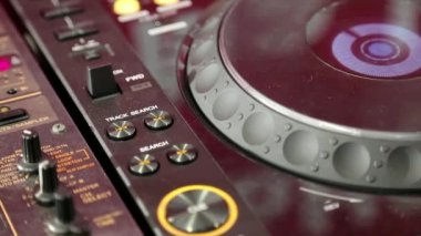 Working DJ console — Stock Video