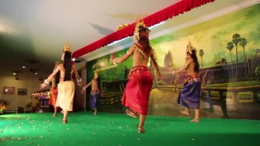 Cambodian Apsara dance — Stock Video
