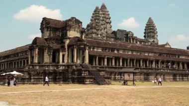Angkor Wat temple in Cambodia — Stock Video