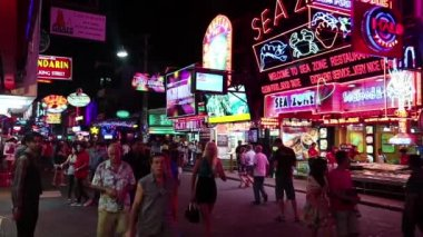 Red-light district in Pattaya, — Stock Video