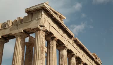 Parthenon   in Greece — Stock Video