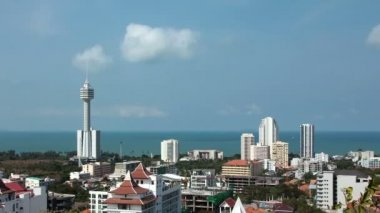 Panorama view of Pattaya city — Wideo stockowe