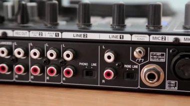 Disc jockey console sockets — Stock Video