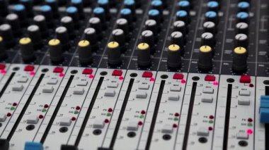 Audio production console — Video Stock