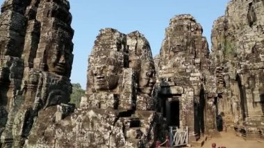 Angkor Thom temple complex — Stock Video