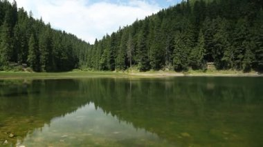 Lake Synevyr in Carpathian Mountains — Stock video