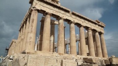 Parthenon - antique temple — Stock Video