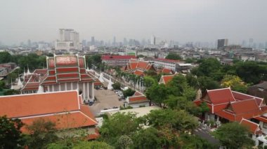 Panorama of Bangkok downtown — Stok video