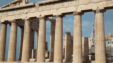 Columns of Parthenon — Stock Video