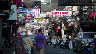 Red-light district in Pattaya — Stock Video