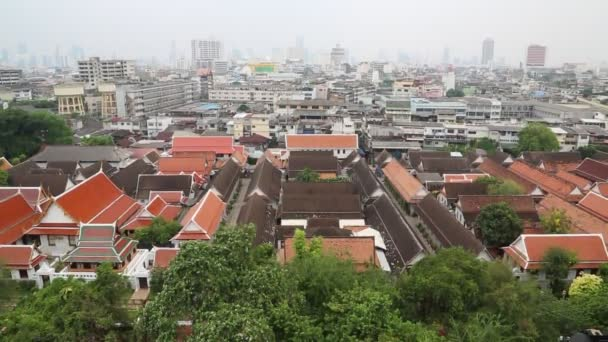 Panorama del centro de Bangkok — Vídeo de stock