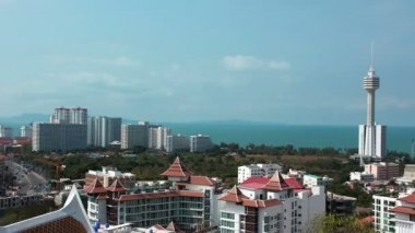 Panorama view of Pattaya city — Stock Video