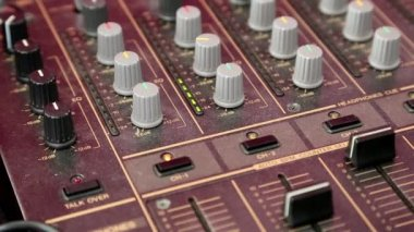 Audio production console — Stock video