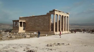 Erechtheion - antique temple — Stock Video