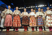 Members of folk group Dubosevica, Baranja, Croatia during the 48th International Folklore Festival in Zagreb — Stock Photo