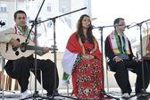 Members of folk group Payiz from Sulaimaniya, Kurdistan, Iraq during the 48th International Folklore Festival in Zagreb — Stockfoto