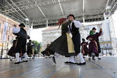 Members of folk group Casamazzagno, Gruppo folklore and Legare from Italy during the 48th International Folklore Festival in Zagreb — Stock Photo