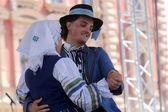 Offizielle homepage der gruppe selkirk, manitoba, ukrainischer tanz ensemble troyanda aus kanada während der 48. internationalen folklore-festival in zagreb — Stockfoto