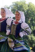 Folk group Selkirk, Manitoba, Ukrainian Dance Ensemble Troyanda from Canada during the 48th International Folklore Festival in Zagreb — Foto de Stock