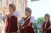 фольклорная группа селкирк, манитоба, троянда ансамбля танца украины из канады во время 48-й международный фольклорный фестиваль в загребе — Стоковое фото