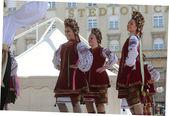 Folk group Selkirk, Manitoba, Ukrainian Dance Ensemble Troyanda from Canada during the 48th International Folklore Festival in Zagreb — Stock Photo