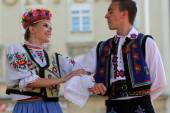 Members of folk group Edmonton (Alberta), Ukrainian dancers Viter from Canada during the 48th International Folklore Festival in Zagreb — Stockfoto