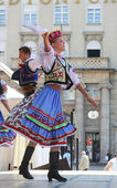 Members of folk group Edmonton (Alberta), Ukrainian dancers Viter from Canada during the 48th International Folklore Festival in Zagreb — Stock Photo