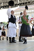 Leden van folk groep selacka sloga van nedelisce, kroatië tijdens de 48ste internationale folklore festival in zagreb — Stockfoto
