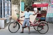 Kolkata çekçek sürücüsü — Stok fotoğraf