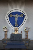 Altar in the Church of the Holy Trinity in the Bavarian village of Gemunden am Main — Stock Photo