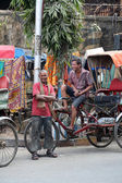 Rickshaw driver, Kolkata — Stock Photo
