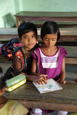 Kids learn at school in Kumrokhali, West Bengal, India — Foto Stock