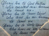 Prayer of the Holy Trinity written by Mother Teresa — Stock Photo