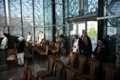 массы в часовне в мать тереза мемориальный дом в скопье, македония — Стоковое фото