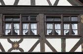 Casa a graticcio di vecchio in gemunden, germania — Foto Stock