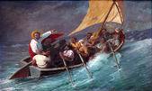 Jezus ucisza burzę na morzu — Zdjęcie stockowe