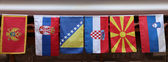 Flags of countries of the former Yugoslavia — Stock Photo