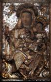 Madonna with Child, Church of St Mary in Kotor, Montenegro. — Stock Photo