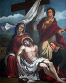 13th Stations of the Cross, Jesus' body is removed from the cross — Stock Photo