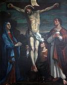 12 stationer på korset, jesus dör på korset — Stockfoto