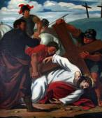 9th Stations of the Cross, Jesus falls the third time — Stockfoto